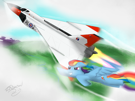 Rainbow Dash vs The Avro Arrow by NiegelvonWolf