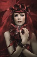Red bride by babsartcreations
