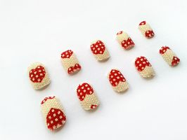 Fabric Nails by nail-artisan