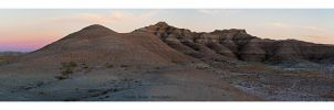 Badlands Evening Panorama by Julian-Bunker