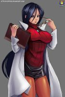 Commission:  Kyoko Minazuki  Rival Schools by Kyoffie12