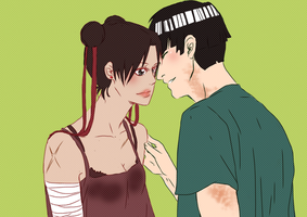 PC - Tenten and Lee by Hanahi-chan