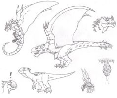 More Monster Hunter Concepts by DinoHunter2