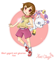 Hikari Yagami and Gatomon FAN! by Kari-Usagi