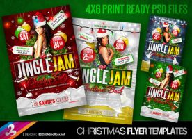 Jingle Jam Christmas Flyer Templates by AnotherBcreation