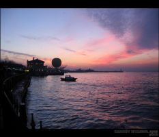 Violet Sunset in Istanbul...2 by ancelique
