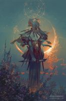 Samshiel, Angel of the Eclipse by PeteMohrbacher