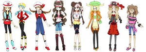 Pokemon Female Protagonist Game New Outfit by DiamondMian