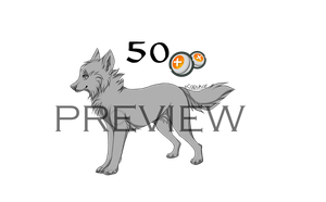 Preshaded wolf Lineart- Use for 50 points! by Capukat