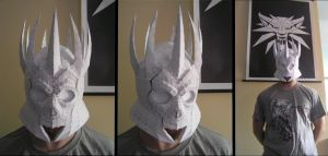 PEPAKURA - Witcher III Wild Hunt King Helmet by distressfasirt