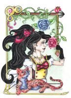 Red Queen Tapestry by Yamina20