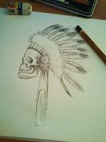 skull warbonnet by gagiking