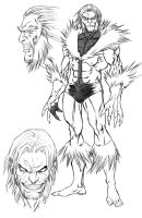 Sabretooth sketch for Weapon X by ColtNoble
