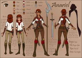 Anariel Character Sheet by honeyroastedferrets