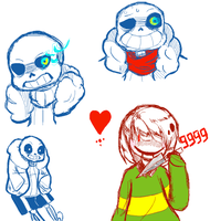 Undertale Doodles by MiStraLL