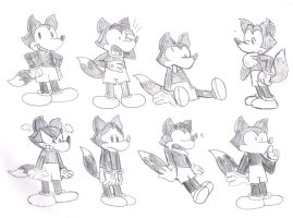 Foxy Sketches by MarcosLucky96