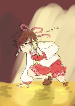 [TOUHOU x UNDERTALE] Reimu is Undertaled SKETCH by CodaAna
