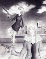 .:Rooftop Bullets:. by PaleRedPanic