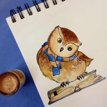 Ravenclaw Owl by Art-Ablaze