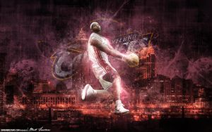 LeBron James Cavaliers by Sanoinoi