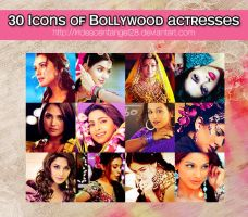 30 Icons of Bollywood actresses by IridescentAngel28