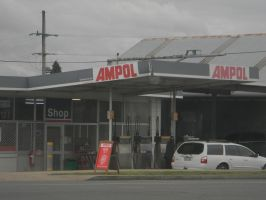 Ampol Station by Zomit