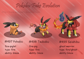 Pokabu fake evolution by Samurai-Akita