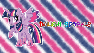 Twilight Sparkle -RAINBOW POWER- Wallpaper (100th) by AceofPonies