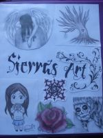 My Art Binder Cover by XxSierraRose