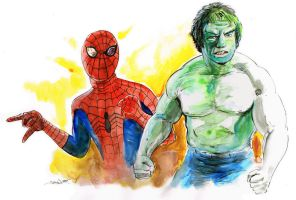 Tv's Spider-Man and the Incredible Hulk! by strawmancomics