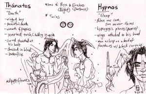 Thanatos + Hypnos Sketch