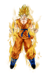 Goku super saiyan aura by BardockSonic