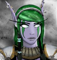 Kara the Night Elf by Tempestus1
