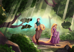 Tangled - A Walk in the Wood by SolMatter