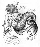 Mermaid the Second by flashsen