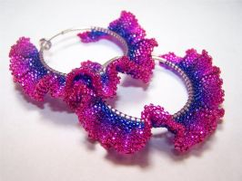 Earrings: Supernova II by Bright-Circle