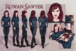 Rowan Sawyer - Character Reference Sheet by tbdoll