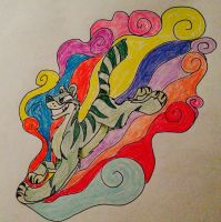 Psychedelic Tiger by kittykat568