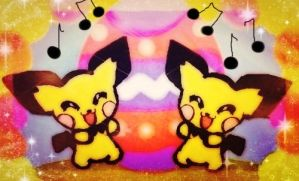 Pichu and Pichu Easter song XD by KawaiiDarkAngel