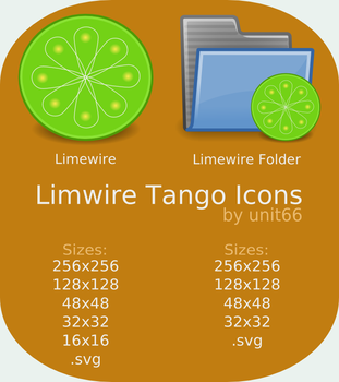 Limewire Tango Icons by Unit66