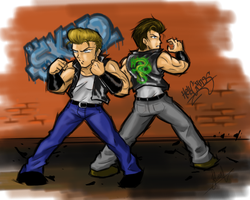 Double Dragon tribute by YagamiEmer