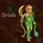 Driada, character for Dragon's Dungeon game by Vadich