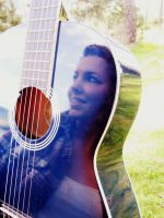 Reflection in a guitar by Annas-Day-Dreams