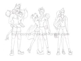 WIP- MH Fearleader Squad by Hasana-chan