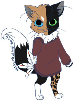 TheSweaterCats Commission: KeratinWing (Mercury) by colormymemory