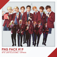 PNG PACK#19 - BTS (SKtelecom) 8PNGs - By Yangyangg by Yangyanggg