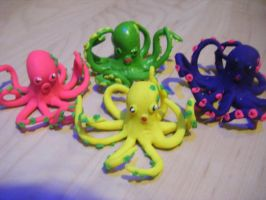 Colourful Octopods! by Kaninano