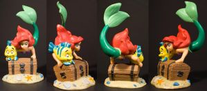 Ariel and Flounder Toy by AreteStock