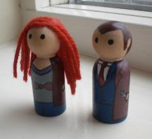 The Tenth Doctor + Donna Noble by jen-random