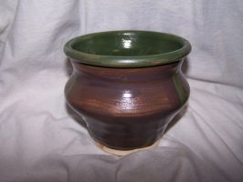 brown and green bowl by Panther87